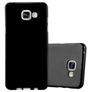 Cadorabo Hülle für Samsung Galaxy A3 2016 in JELLY SCHWARZ ? Handyhülle aus flexiblem TPU Silikon ? Silikonhülle Schutzhülle Ultra Slim Soft Back Cover Case Bumper