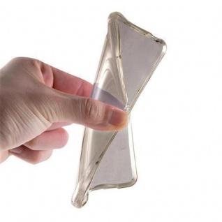 Cadorabo Hülle für Samsung Galaxy J1 2015 in TRANSPARENT SCHWARZ - Handyhülle aus flexiblem TPU Silikon - Silikonhülle Schutzhülle Ultra Slim Soft Back Cover Case Bumper - Vorschau 5