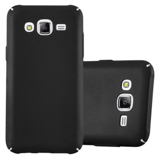 Cadorabo Hülle für Samsung Galaxy J5 2015 in METALL SCHWARZ ? Hardcase Handyhülle aus Plastik gegen Kratzer und Stöße ? Schutzhülle Bumper Ultra Slim Back Case Hard Cover