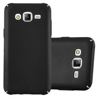 Cadorabo Hülle für Samsung Galaxy J5 2015 in METALL SCHWARZ Hardcase Handyhülle aus Plastik gegen Kratzer und Stöße Schutzhülle Bumper Ultra Slim Back Case Hard Cover