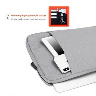 """"""" Cadorabo Laptop / Tablet Tasche 14'"""" Zoll in GRAU ? Notebook Computer Tasche aus Stoff mit Samt-Innenfutter und Fach mit Anti-Kratz Reißverschluss ? Schutzhülle Sleeve Case"""" - Vorschau 5"""