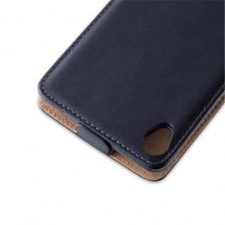 Cadorabo Hülle für Sony Xperia Z3 in KAVIAR SCHWARZ - Handyhülle im Flip Design aus glattem Kunstleder - Case Cover Schutzhülle Etui Tasche Book Klapp Style - Vorschau 3