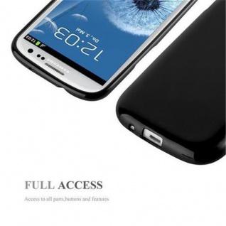Cadorabo Hülle für Samsung Galaxy S3 / S3 NEO in JELLY SCHWARZ ? Handyhülle aus flexiblem TPU Silikon ? Silikonhülle Schutzhülle Ultra Slim Soft Back Cover Case Bumper - Vorschau 4