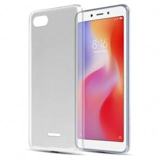 Cadorabo Hülle für Xiaomi RedMi 6A in VOLL TRANSPARENT - Handyhülle aus flexiblem TPU Silikon - Silikonhülle Schutzhülle Ultra Slim Soft Back Cover Case Bumper