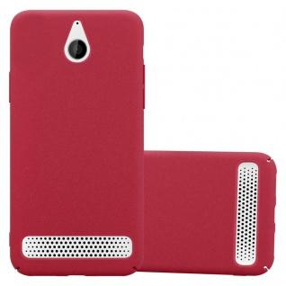 Cadorabo Hülle für Sony Xperia E1 in FROSTY ROT - Hardcase Handyhülle aus Plastik gegen Kratzer und Stöße - Schutzhülle Bumper Ultra Slim Back Case Hard Cover
