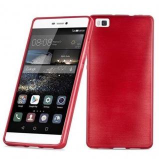 Cadorabo Hülle für Huawei P8 LITE 2015 in ROT - Handyhülle aus flexiblem TPU Silikon - Silikonhülle Schutzhülle Ultra Slim Soft Back Cover Case Bumper