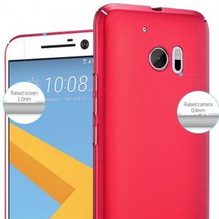 Cadorabo Hülle für HTC 10 (One M10) in METALL ROT ? Hardcase Handyhülle aus Plastik gegen Kratzer und Stöße ? Schutzhülle Bumper Ultra Slim Back Case Hard Cover - Vorschau 4