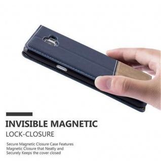 Cadorabo Hülle für Samsung Galaxy A3 2016 in DUNKEL BLAU BRAUN - Handyhülle mit Magnetverschluss, Standfunktion und Kartenfach - Case Cover Schutzhülle Etui Tasche Book Klapp Style - Vorschau 3