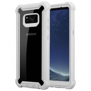 Cadorabo Hülle für Samsung Galaxy S8 in BIRKEN GRAU - 2-in-1 Handyhülle mit TPU Silikon-Rand und Acryl-Glas-Rücken - Schutzhülle Hybrid Hardcase Back Case