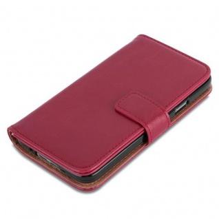 Cadorabo Hülle für Samsung Galaxy S5 / S5 NEO in WEIN ROT ? Handyhülle mit Magnetverschluss, Standfunktion und Kartenfach ? Case Cover Schutzhülle Etui Tasche Book Klapp Style - Vorschau 2