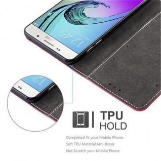 Cadorabo Hülle für Samsung Galaxy A3 2016 in ROT SCHWARZ - Handyhülle mit Magnetverschluss, Standfunktion und Kartenfach - Case Cover Schutzhülle Etui Tasche Book Klapp Style - Vorschau 5