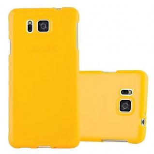 Cadorabo Hülle für Samsung Galaxy ALPHA in JELLY GELB ? Handyhülle aus flexiblem TPU Silikon ? Silikonhülle Schutzhülle Ultra Slim Soft Back Cover Case Bumper