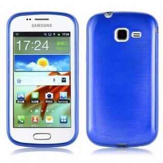 Cadorabo Hülle für Samsung Galaxy TREND in BLAU - Handyhülle aus flexiblem TPU Silikon - Silikonhülle Schutzhülle Ultra Slim Soft Back Cover Case Bumper - Vorschau 1