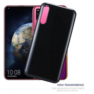 Cadorabo Hülle für Honor MAGIC 2 in SCHWARZ - Handyhülle aus flexiblem TPU Silikon - Silikonhülle Schutzhülle Ultra Slim Soft Back Cover Case Bumper - Vorschau 5