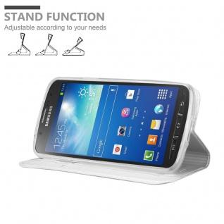 Cadorabo Hülle für Samsung Galaxy S4 Active in CLASSY SILBER - Handyhülle mit Magnetverschluss, Standfunktion und Kartenfach - Case Cover Schutzhülle Etui Tasche Book Klapp Style - Vorschau 2