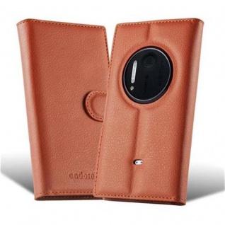 Cadorabo Hülle für Nokia Lumia 1020 in SCHOKO BRAUN - Handyhülle mit Magnetverschluss, Standfunktion und Kartenfach - Case Cover Schutzhülle Etui Tasche Book Klapp Style - Vorschau 5