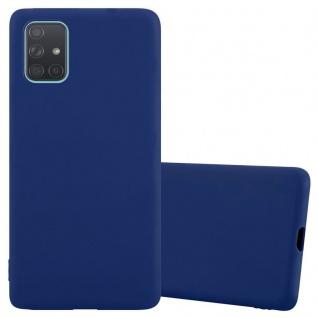 Cadorabo Hülle für Samsung Galaxy A71 5G in CANDY DUNKEL BLAU Handyhülle aus flexiblem TPU Silikon Silikonhülle Schutzhülle Ultra Slim Soft Back Cover Case Bumper