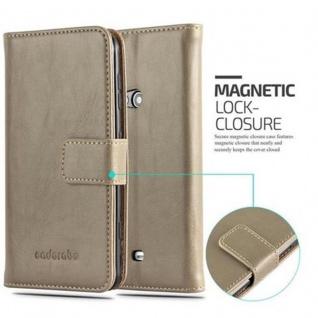 Cadorabo Hülle für Nokia Lumia 625 in CAPPUCCINO BRAUN ? Handyhülle mit Magnetverschluss, Standfunktion und Kartenfach ? Case Cover Schutzhülle Etui Tasche Book Klapp Style - Vorschau 2