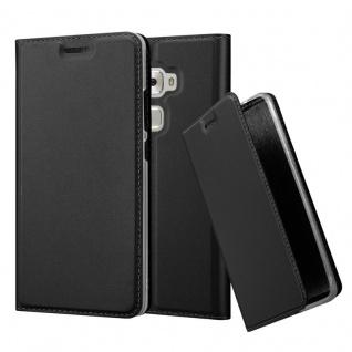 Cadorabo Hülle für Huawei MATE S in CLASSY SCHWARZ - Handyhülle mit Magnetverschluss, Standfunktion und Kartenfach - Case Cover Schutzhülle Etui Tasche Book Klapp Style