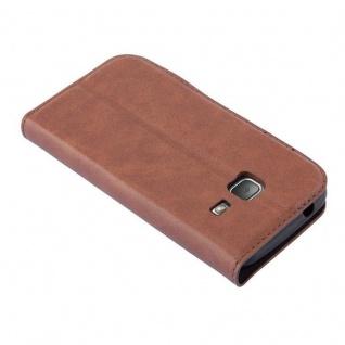 Cadorabo Hülle für Samsung Galaxy TREND LITE in CAPPUCCINO BRAUN - Handyhülle mit Magnetverschluss, Standfunktion und Kartenfach - Case Cover Schutzhülle Etui Tasche Book Klapp Style - Vorschau 3