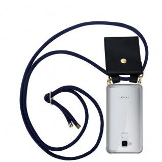 Cadorabo Handy Kette für Honor 5C in TIEF BLAU - Silikon Necklace Umhänge Hülle mit Gold Ringen, Kordel Band Schnur und abnehmbarem Etui ? Schutzhülle