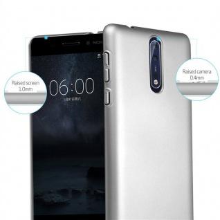 Cadorabo Hülle für Nokia 8 2017 in METALL SILBER - Hardcase Handyhülle aus Plastik gegen Kratzer und Stöße - Schutzhülle Bumper Ultra Slim Back Case Hard Cover - Vorschau 2