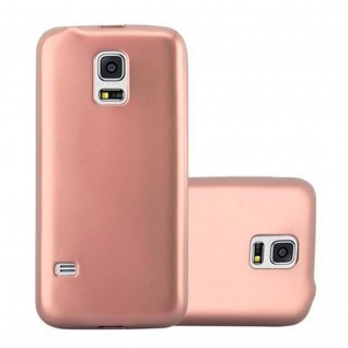 Cadorabo Hülle für Samsung Galaxy S5 / S5 NEO in METALLIC ROSE GOLD - Handyhülle aus flexiblem TPU Silikon - Silikonhülle Schutzhülle Ultra Slim Soft Back Cover Case Bumper