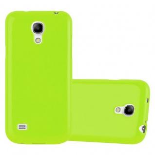 Cadorabo Hülle für Samsung Galaxy S4 MINI in JELLY GRÜN ? Handyhülle aus flexiblem TPU Silikon ? Silikonhülle Schutzhülle Ultra Slim Soft Back Cover Case Bumper