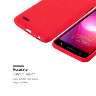 Cadorabo Hülle für LG X POWER 2 in FROST ROT - Handyhülle aus flexiblem TPU Silikon - Silikonhülle Schutzhülle Ultra Slim Soft Back Cover Case Bumper - Vorschau 3