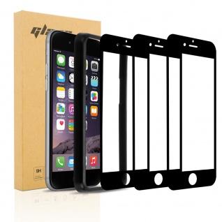 Cadorabo 3X Vollbild Panzerglasfolie für Apple iPhone 6 / 6S Plus - Schutzfolie in TRANSPARENT mit SCHWARZ - 3er Pack Gehärtetes (Tempered) Display-Schutzglas mit Installationshilfe
