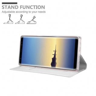 Cadorabo Hülle für Samsung Galaxy NOTE 8 in CLASSY SILBER - Handyhülle mit Magnetverschluss, Standfunktion und Kartenfach - Case Cover Schutzhülle Etui Tasche Book Klapp Style - Vorschau 4