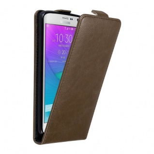 Cadorabo Hülle für Samsung Galaxy NOTE EDGE in KAFFEE BRAUN Handyhülle im Flip Design mit unsichtbarem Magnetverschluss Case Cover Schutzhülle Etui Tasche Book Klapp Style