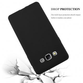Cadorabo Hülle für Samsung Galaxy A7 2015 in CANDY SCHWARZ - Handyhülle aus flexiblem TPU Silikon - Silikonhülle Schutzhülle Ultra Slim Soft Back Cover Case Bumper - Vorschau 4