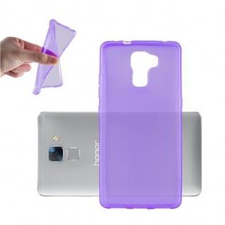 Cadorabo Hülle für Honor 7 in TRANSPARENT LILA - Handyhülle aus flexiblem TPU Silikon - Silikonhülle Schutzhülle Ultra Slim Soft Back Cover Case Bumper