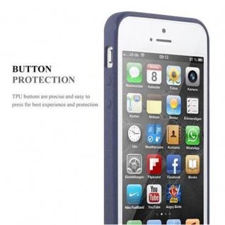 Cadorabo Hülle für Apple iPhone 5 / iPhone 5S / iPhone SE in FROST DUNKEL BLAU - Handyhülle aus flexiblem TPU Silikon - Silikonhülle Schutzhülle Ultra Slim Soft Back Cover Case Bumper - Vorschau 3