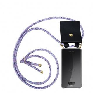 Cadorabo Handy Kette für Sony Xperia 10 in UNICORN Silikon Necklace Umhänge Hülle mit Gold Ringen, Kordel Band Schnur und abnehmbarem Etui Schutzhülle