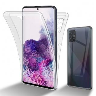 Cadorabo Hülle kompatibel mit Samsung Galaxy A71 5G in TRANSPARENT - 360° Full Body Handyhülle Front und Rückenschutz Rundumschutz Schutzhülle mit Displayschutz