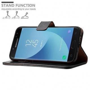 Cadorabo Hülle für Samsung Galaxy J7 2017 in GRAPHIT SCHWARZ ? Handyhülle mit Magnetverschluss, Standfunktion und Kartenfach ? Case Cover Schutzhülle Etui Tasche Book Klapp Style - Vorschau 5