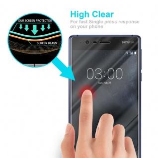Cadorabo Panzer Folie für Nokia 3.1 2018 - Schutzfolie in KRISTALL KLAR - Gehärtetes (Tempered) Display-Schutzglas in 9H Härte mit 3D Touch Kompatibilität - Vorschau 5