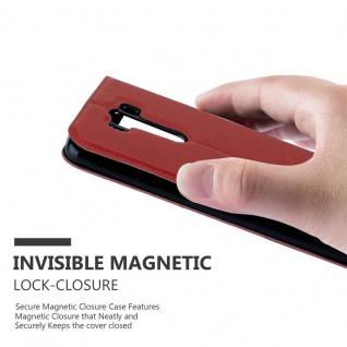 Cadorabo Hülle für LG G3 in SAFRAN ROT ? Handyhülle mit Magnetverschluss, Standfunktion und 2 Sichtfenstern ? Case Cover Schutzhülle Etui Tasche Book Klapp Style - Vorschau 5