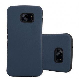 Cadorabo Hülle für Samsung Galaxy S7 EDGE - Hülle in MEERES BLAU - Small Waist Handyhülle mit rutschfestem Gummi-Rücken - Hard Case TPU Silikon Schutzhülle