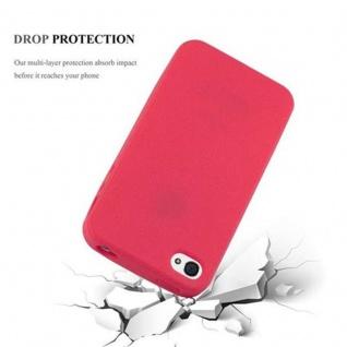 Cadorabo Hülle für Apple iPhone 4 / iPhone 4S in FROSTY ROT Hardcase Handyhülle aus Plastik gegen Kratzer und Stöße Schutzhülle Bumper Ultra Slim Back Case Hard Cover