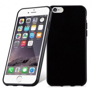Cadorabo Hülle für Apple iPhone 6 PLUS / iPhone 6S PLUS - Hülle in SCHWARZ ? Handyhülle aus TPU Silikon im Ultra Slim 'AIR' Design - Ultra Slim Soft Backcover Case Bumper