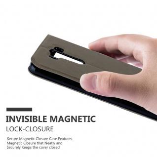 Cadorabo Hülle für LG G3 in STEIN BRAUN ? Handyhülle mit Magnetverschluss, Standfunktion und 2 Sichtfenstern ? Case Cover Schutzhülle Etui Tasche Book Klapp Style - Vorschau 5