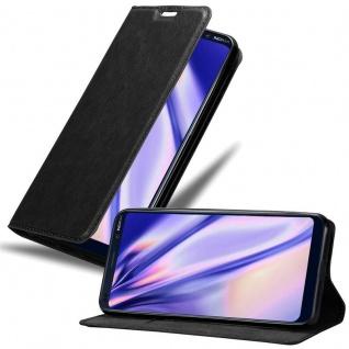 Cadorabo Hülle für Nokia 9 Pure View in NACHT SCHWARZ Handyhülle mit Magnetverschluss, Standfunktion und Kartenfach Case Cover Schutzhülle Etui Tasche Book Klapp Style