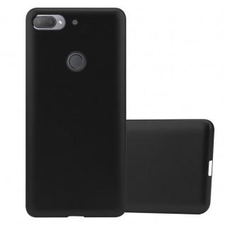 Cadorabo Hülle für HTC Desire 12 PLUS in METALLIC SCHWARZ Handyhülle aus flexiblem TPU Silikon Silikonhülle Schutzhülle Ultra Slim Soft Back Cover Case Bumper