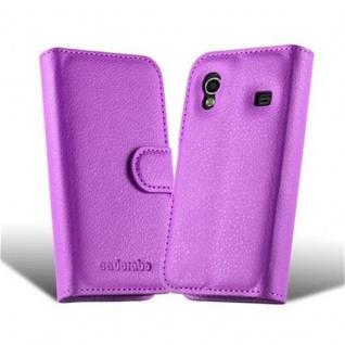 Cadorabo Hülle für Samsung Galaxy ACE 1 in MANGAN VIOLETT - Handyhülle mit Magnetverschluss, Standfunktion und Kartenfach - Case Cover Schutzhülle Etui Tasche Book Klapp Style - Vorschau 5