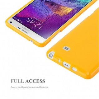 Cadorabo Hülle für Samsung Galaxy NOTE 4 in JELLY GELB ? Handyhülle aus flexiblem TPU Silikon ? Silikonhülle Schutzhülle Ultra Slim Soft Back Cover Case Bumper - Vorschau 4