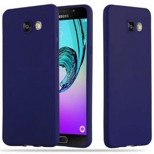Cadorabo Hülle für Samsung Galaxy A5 2016 in CANDY DUNKEL BLAU Handyhülle aus flexiblem TPU Silikon Silikonhülle Schutzhülle Ultra Slim Soft Back Cover Case Bumper
