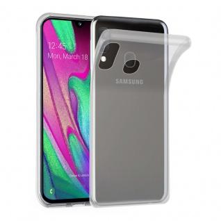 Cadorabo Hülle für Samsung Galaxy A40 in VOLL TRANSPARENT Handyhülle aus flexiblem TPU Silikon Silikonhülle Schutzhülle Ultra Slim Soft Back Cover Case Bumper